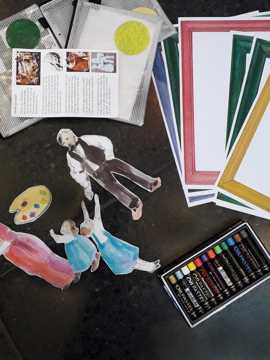 Kunstkuffert til børnefamilier og børn på Willumsens Museum