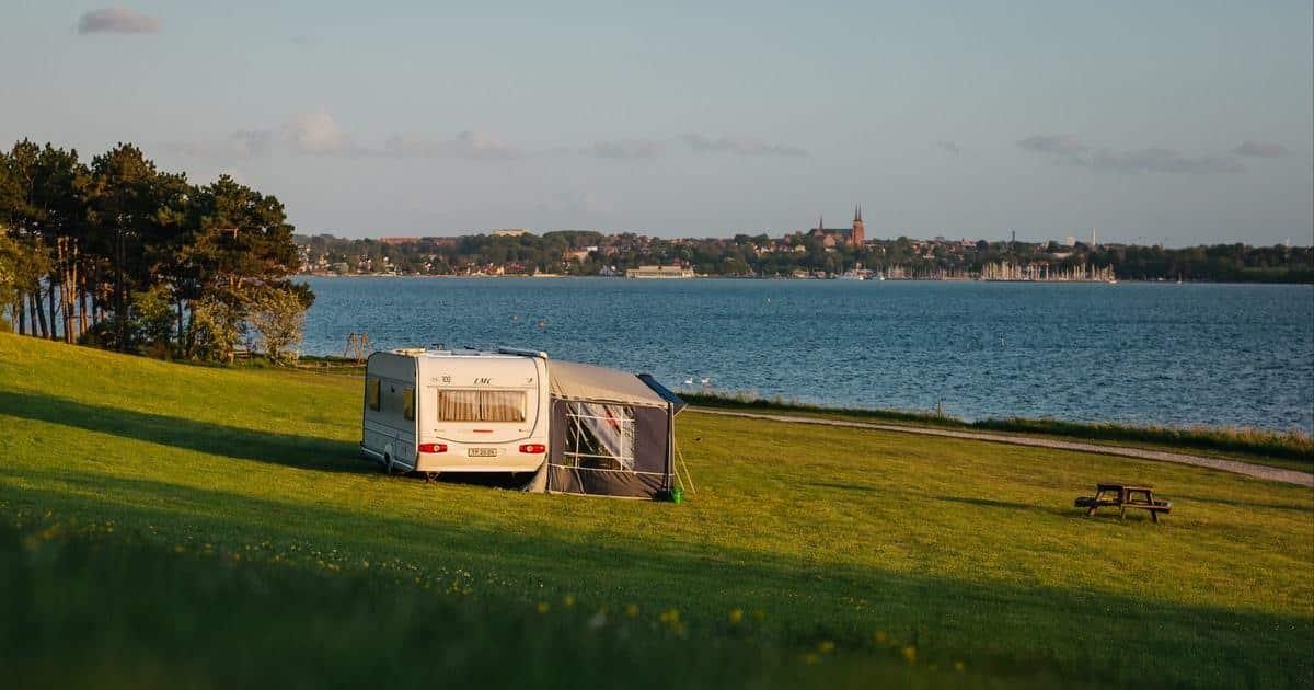 Roskilde Camping - Udsigt over Roskilde by