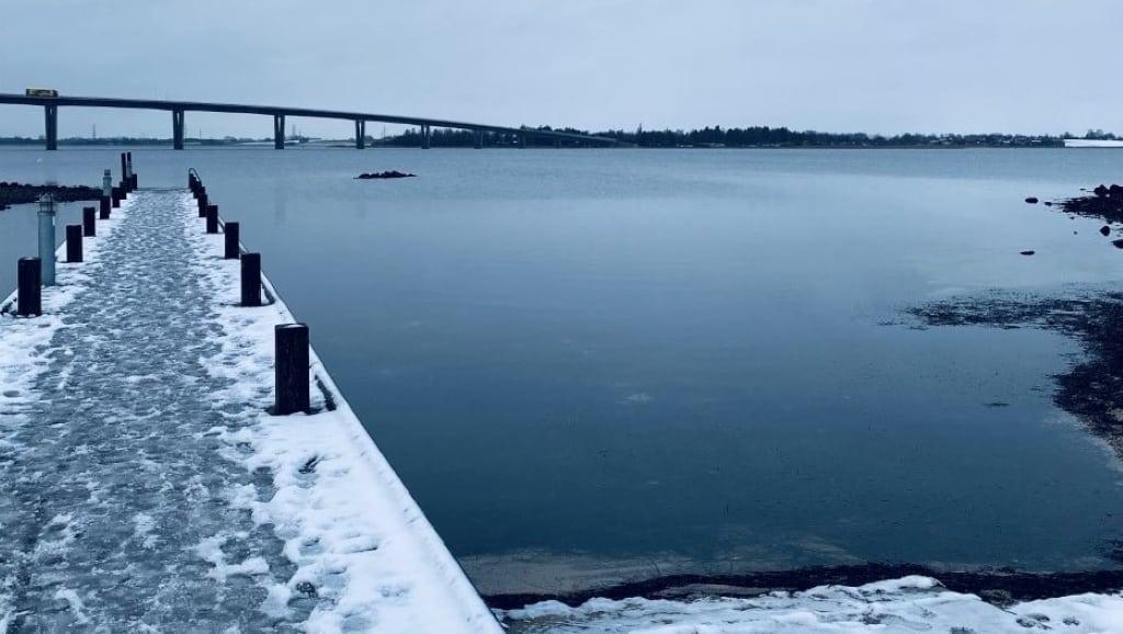 Vinterbadning ved Marbæk strandpark